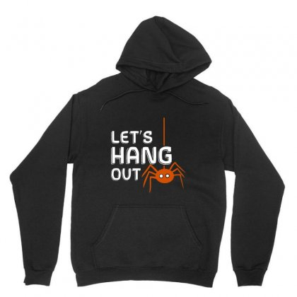 Let's Hang Out   Halloween Spider Unisex Hoodie Designed By Pinkanzee