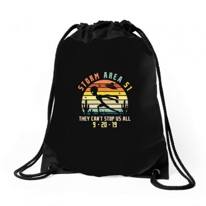 Storm Area Merch Drawstring Bags Designed By Peri
