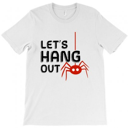 Halloween Spider   Let's Hang Out T-shirt Designed By Pinkanzee
