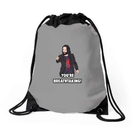 You Are Breathtaking Keanu Reeves Drawstring Bags Designed By Peri