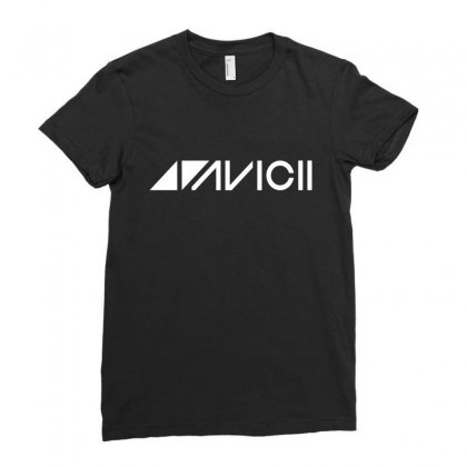 Avicii Dj Music Ladies Fitted T-shirt Designed By Ahmadjufriyanto