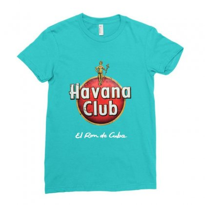 Havana Club Label Ladies Fitted T-shirt Designed By Ahmadjufriyanto