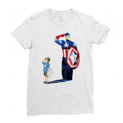 Ok  Captain Ladies Fitted T-shirt Designed By Pinkanzee