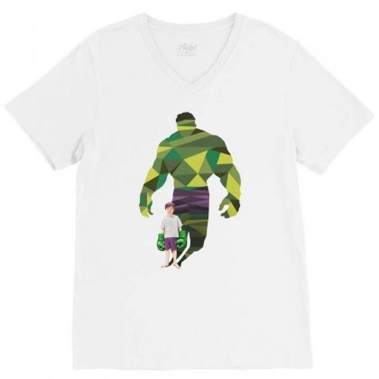 The Green Power V-neck Tee Designed By Pinkanzee