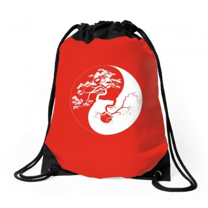 Yin Yang Bonsai Tree Japanese Drawstring Bags Designed By Ahmadjufriyanto