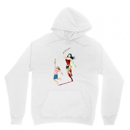 The Girl Power Unisex Hoodie Designed By Pinkanzee