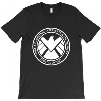 Agents Of Shield   White T-shirt Designed By Pinkanzee