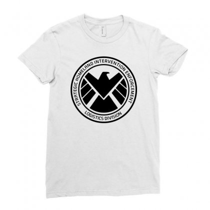 Agents Of Shield   Black Ladies Fitted T-shirt Designed By Pinkanzee