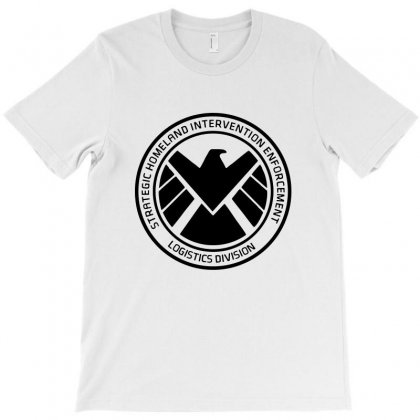 Agents Of Shield   Black T-shirt Designed By Pinkanzee