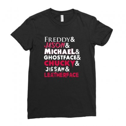 The Horror Movie Ladies Fitted T-shirt Designed By Disgus_thing