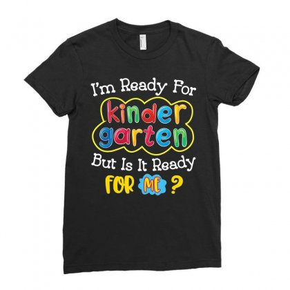 Kids First Day Of Kindergarten Shirt Back To School Gift Ladies Fitted T-shirt Designed By Nhan