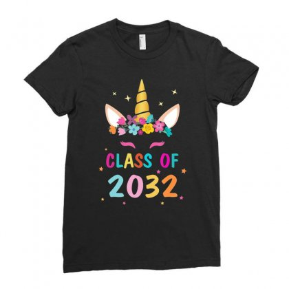 Kid Unicorn First Day Of School Class Of 2032 Grow With Me T Shirt Ladies Fitted T-shirt Designed By Nhan