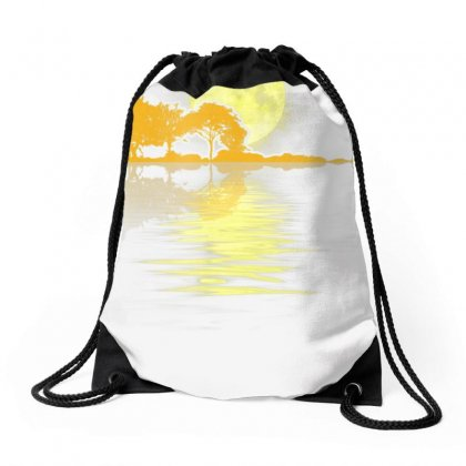 Guitar Lake Shadow Love Guitar T Shirt Drawstring Bags Designed By Nhan