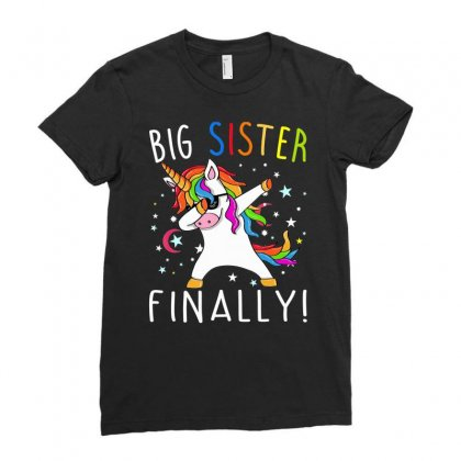 Big Sister Finally Unicorn Shirt   Unicorn Shirt For Girl1 Ladies Fitted T-shirt Designed By Nhan