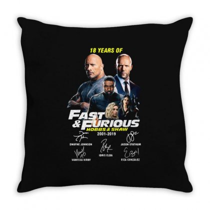 Hobbs And Shaw Throw Pillow Designed By Kakashop