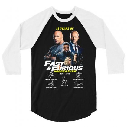 Hobbs And Shaw 3/4 Sleeve Shirt Designed By Kakashop