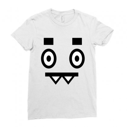 Mood Face Ladies Fitted T-shirt Designed By Ewanhunt