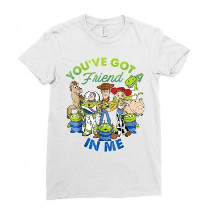 Disney Pixar Toy Story Cartoon Group Ladies Fitted T-shirt Designed By Anrora