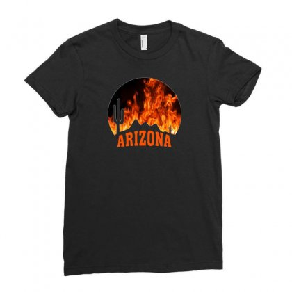 Arizona Forest Fire Ladies Fitted T-shirt Designed By Gurkan