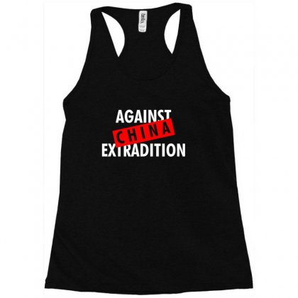 Against China Extradition For Dark Racerback Tank Designed By Ofutlu