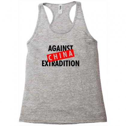 Against China Extradition For Light Racerback Tank Designed By Ofutlu
