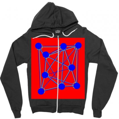 Spider Atomic Structure Zipper Hoodie Designed By Kayanphoto