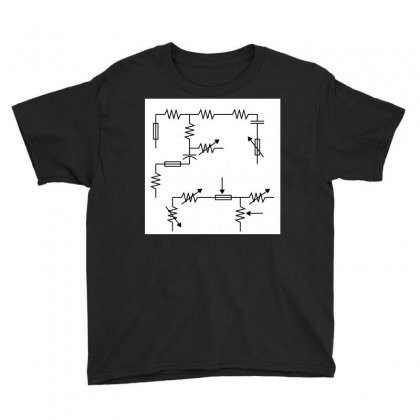Electronic Circuit Sign Pattern Youth Tee Designed By Kayanphoto