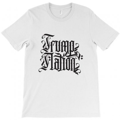Trump Nation Typography T-shirt Designed By Tiococacola