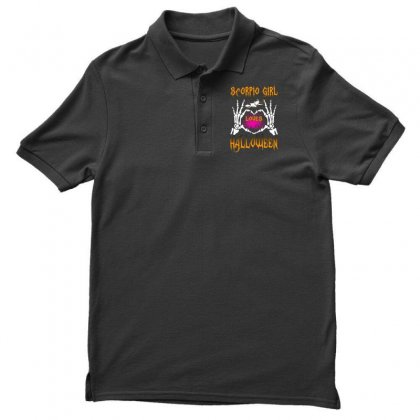 Halloween 2019 This Scorpio Girl Loves Halloween Men's Polo Shirt Designed By Twinklered.com
