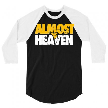 Almost Heaven T Shirt Gift For West Virginia 3/4 Sleeve Shirt Designed By Mdk Art