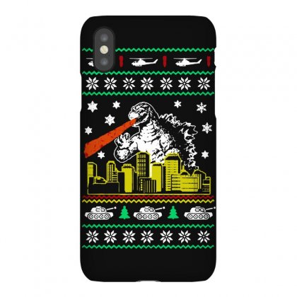 Godzilla Ugly Christmas Iphonex Case Designed By Ande Ande Lumut