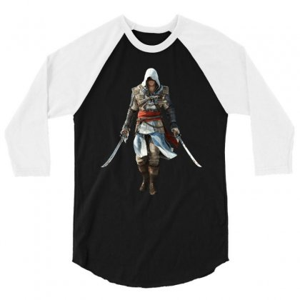 Assassins Creed Edward Kenway 3/4 Sleeve Shirt Designed By Yahya Souhail