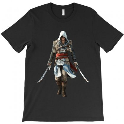 Assassins Creed Edward Kenway T-shirt Designed By Yahya Souhail