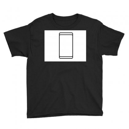 Empty White Screen Smartphone Youth Tee Designed By Kayanphoto
