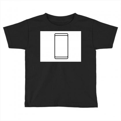 Empty White Screen Smartphone Toddler T-shirt Designed By Kayanphoto