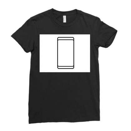 Empty White Screen Smartphone Ladies Fitted T-shirt Designed By Kayanphoto