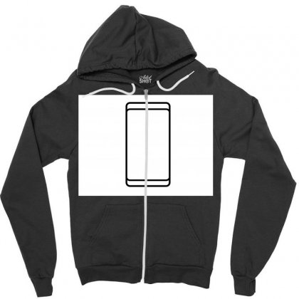 Empty White Screen Smartphone Zipper Hoodie Designed By Kayanphoto