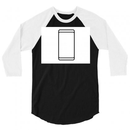 Empty White Screen Smartphone 3/4 Sleeve Shirt Designed By Kayanphoto