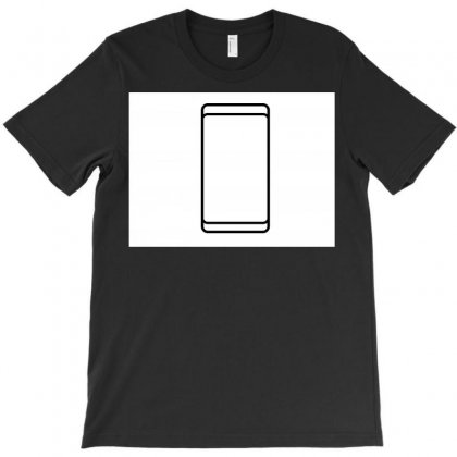 Empty White Screen Smartphone T-shirt Designed By Kayanphoto