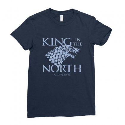 North King Ladies Fitted T-shirt Designed By Disgus_thing