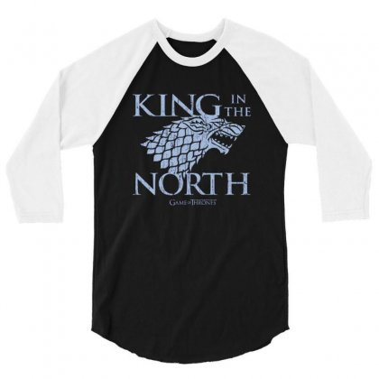 North King 3/4 Sleeve Shirt Designed By Disgus_thing