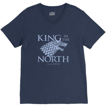North King V-neck Tee Designed By Disgus_thing