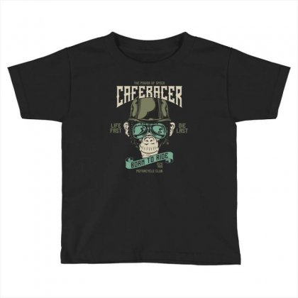 Cafe Racer Born To Ride Toddler T-shirt Designed By Emardesign