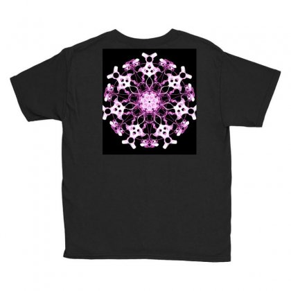 Modern Glowing Purple Floral Design Youth Tee Designed By Dcro12