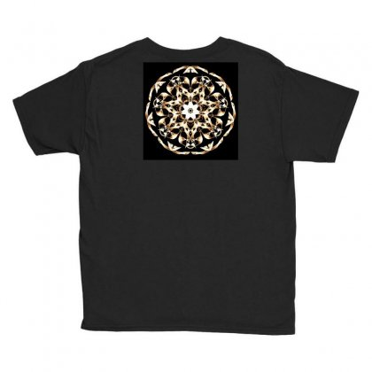 Modern Glowing Floral Design Youth Tee Designed By Dcro12