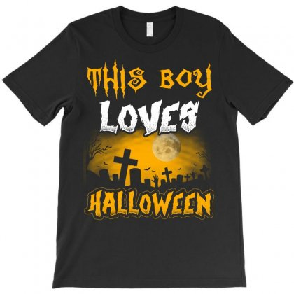 Halloween This Boy Loves Halloween T-shirt Designed By Twinklered.com