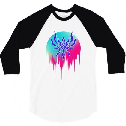 Crest Of Flames 3/4 Sleeve Shirt Designed By Sengul