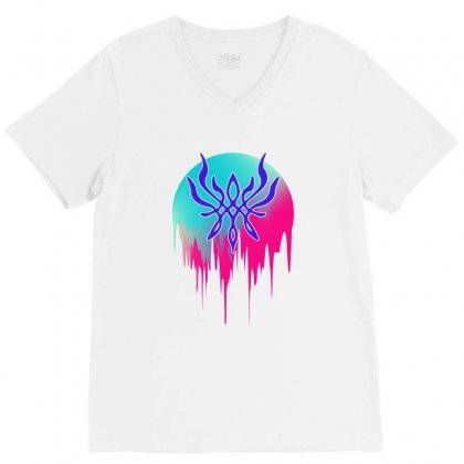 Crest Of Flames V-neck Tee Designed By Sengul