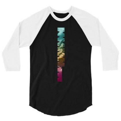 Cloudy Night In The City 3/4 Sleeve Shirt Designed By Ofutlu