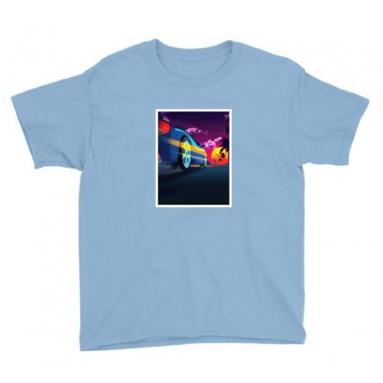 Outrun Retrowave Merch Youth Tee Designed By Willo